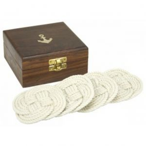 Rope Coasters w- Anchor Box 4 Set of 4