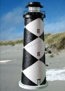 Cape Lookout Stucco Solar Landscape Lighthouse 24