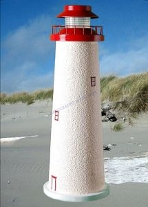 Cape May Stucco Solar Landscape Lighthouse 24