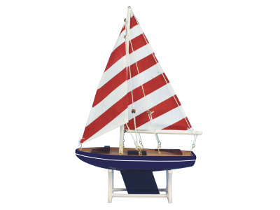 Wooden It Floats Sailors Dream Model Sailboat 12\