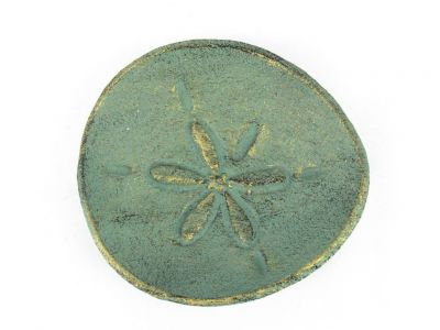 Antique Bronze Cast Iron Sand Dollar Decorative Plate 6\
