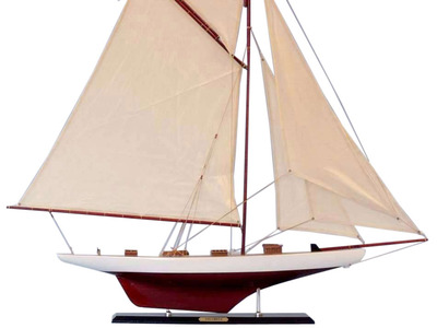 Wooden Columbia Model Sailboat Decoration 45""