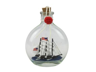 USS Constitution Model Ship in a Glass Bottle 4""