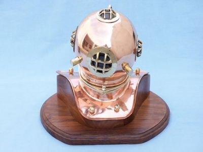 Copper Diving Helmet w-Base 12