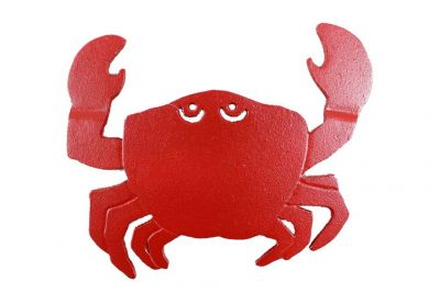 Rustic Red Cast Iron Crab Trivet 11\