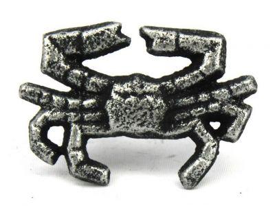 Antique Silver Cast Iron Crab Napkin Ring 2.5\
