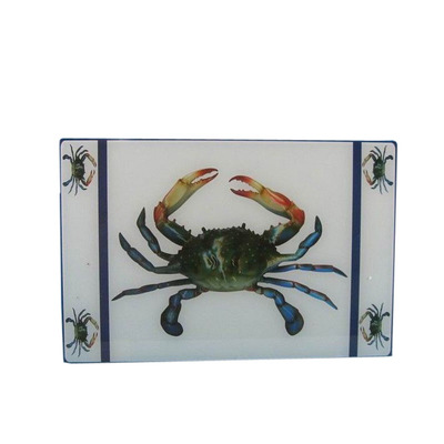 Glass Crab Cutting Board 18