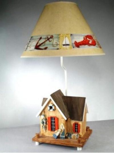 Crab Shack Electric Lamp with Brent 28