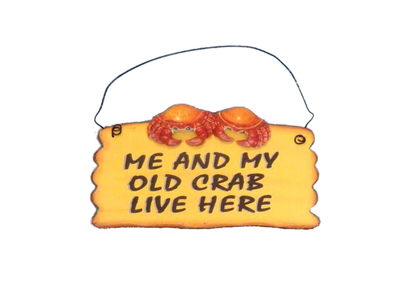 Wooden Me And My Crab Live Here Beach Sign 8