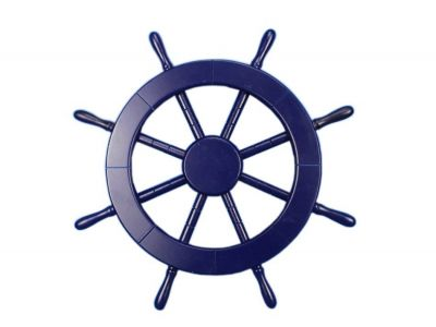 Dark Blue Ship Wheel 18