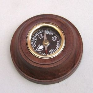 Decorative Black Faced Wooden Compass 3