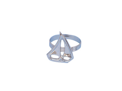 Chrome Sailboat Napkin Ring 2