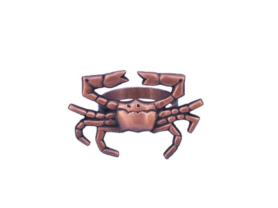 Antique Copper Crab Napkin Ring 3