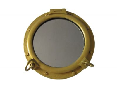 Gold Finish Porthole Mirror 24