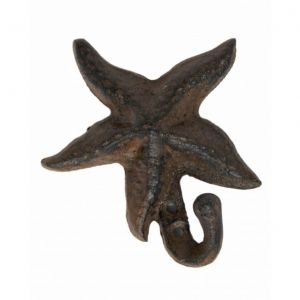 Rustic Iron Starfish Key Hook 5