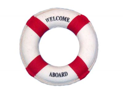 Red Welcome Aboard Life Ring 6