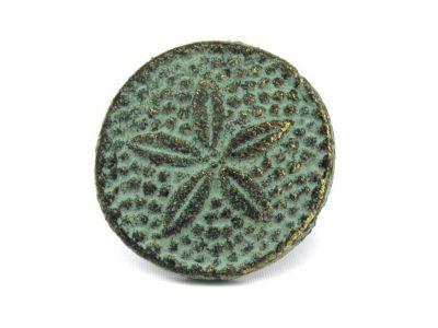 Antique Bronze Cast Iron Sand Dollar Napkin Ring 2\
