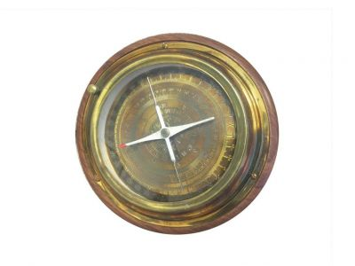 Rustic Brass Directional Desktop Compass 6""
