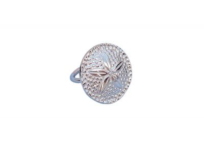 Chrome Sand Dollar Napkin Ring 2