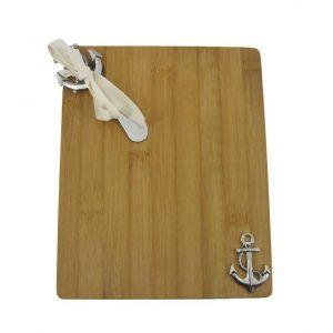 Bamboo Cutting Board with Anchor and Spreader 9\