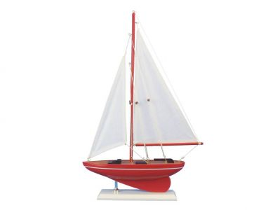 Wooden Compass Rose Model Sailboat 17""
