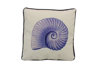 Blue and White Nautilus Decorative Throw Pillow 10\