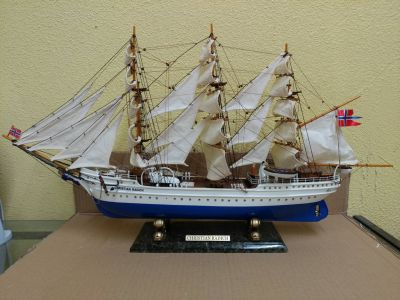 Wooden Christian Radich Limited Model Tall Ship 28""