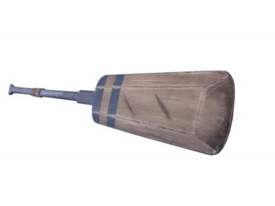 Wooden Rustic Blue Lake Squared Oar 50 with Hooks