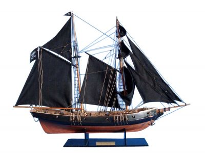 Wooden Ben Franklin\'s Black Prince Limited Model Ship 24\