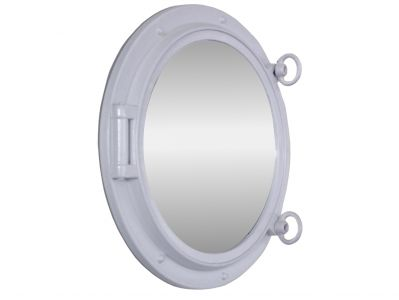 Gloss White Porthole Mirror 15