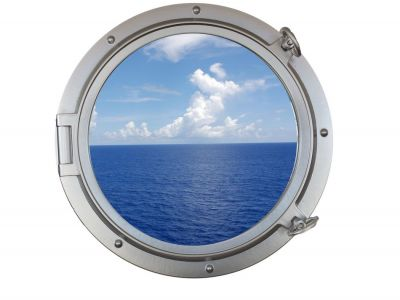 Silver Porthole Window 24