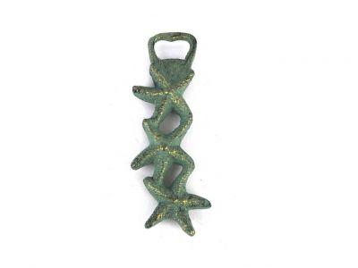 Antique Bronze Cast Iron Triple Starfish Bottle Opener 7\