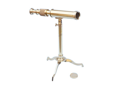 Floor Standing Brass Telescope on Stand 17