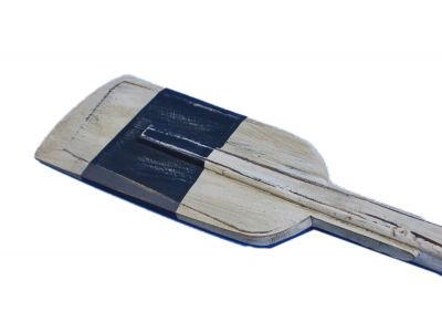 Wooden Rustic King Harbor Decorative Squared Rowing Boat Oar with Hooks 50\