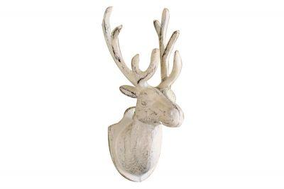Whitewashed Cast Iron Deer Hook 12\