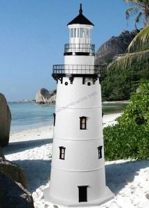 Old Saybrook Stucco Electric Lawn Lighthouse 48