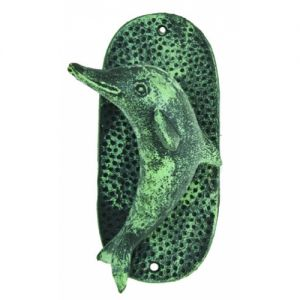 Seaworn Cast Iron Dolphin Door Knocker 7