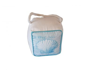 Blue Oceanfront Seashell Doorstop 6