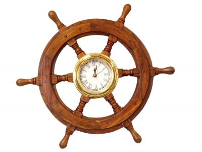 Ship Wheel Clock 18