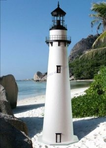 Fenwick Stucco Electric Lawn Lighthouse 96