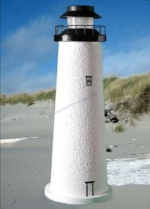 Fenwick-Cape Cod Stucco Solar Landscape Lighthouse 24