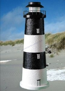 Fire Island Stucco Solar Landscape Lighthouse 24