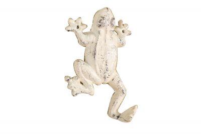 Whitewashed Cast Iron Frog Hook 6\