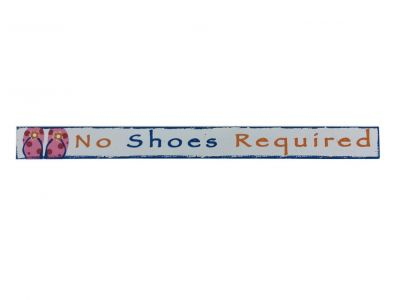 Wooden No Shoes Required Beach Sign 18