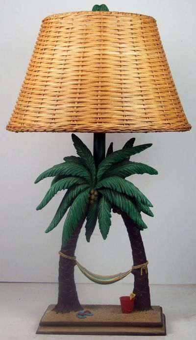 Hammock In The Palms Electric Lamp 26