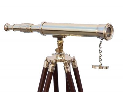 Floor Standing Brass Harbor Master Telescope 42