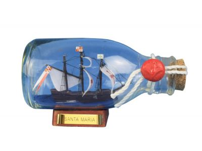 Santa Maria Ship in a Glass Bottle 5