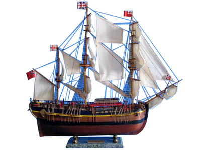 Wooden HMS Endeavour Limited Model Ship 30""