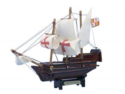 Wooden Santa Maria Tall Model Ship 7\