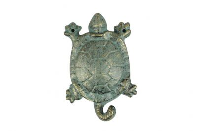 Antique Bronze Cast Iron Turtle Key Hook 6\